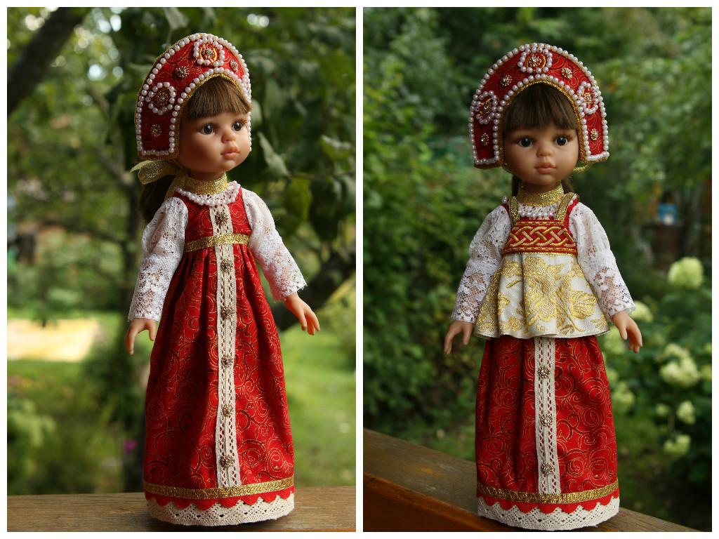 Кукла в русском костюме своими руками 16