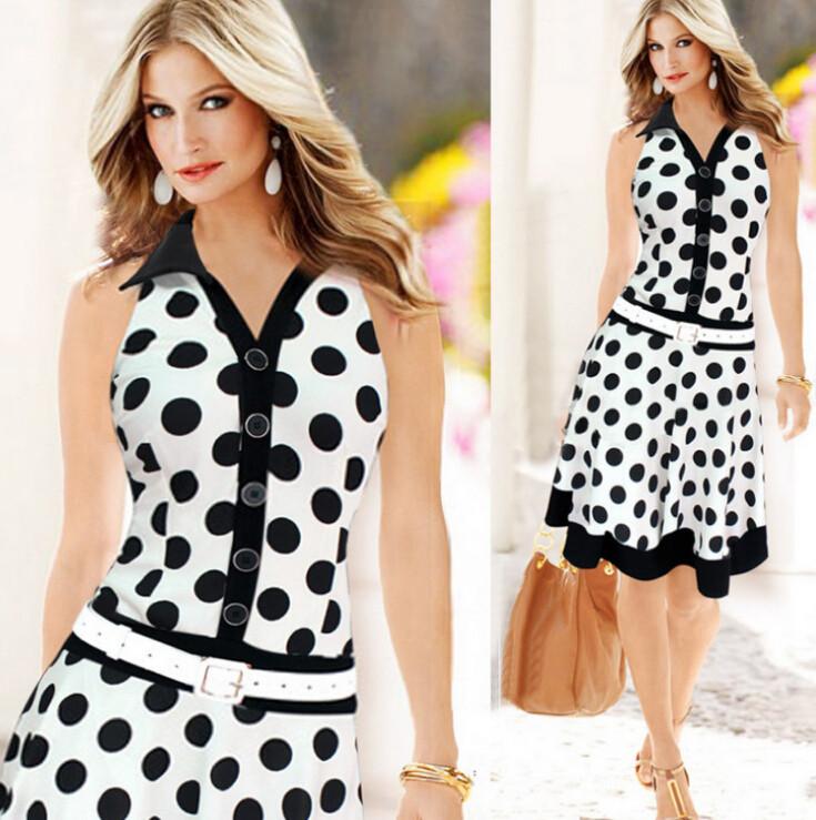 Фото летних платье в горошек