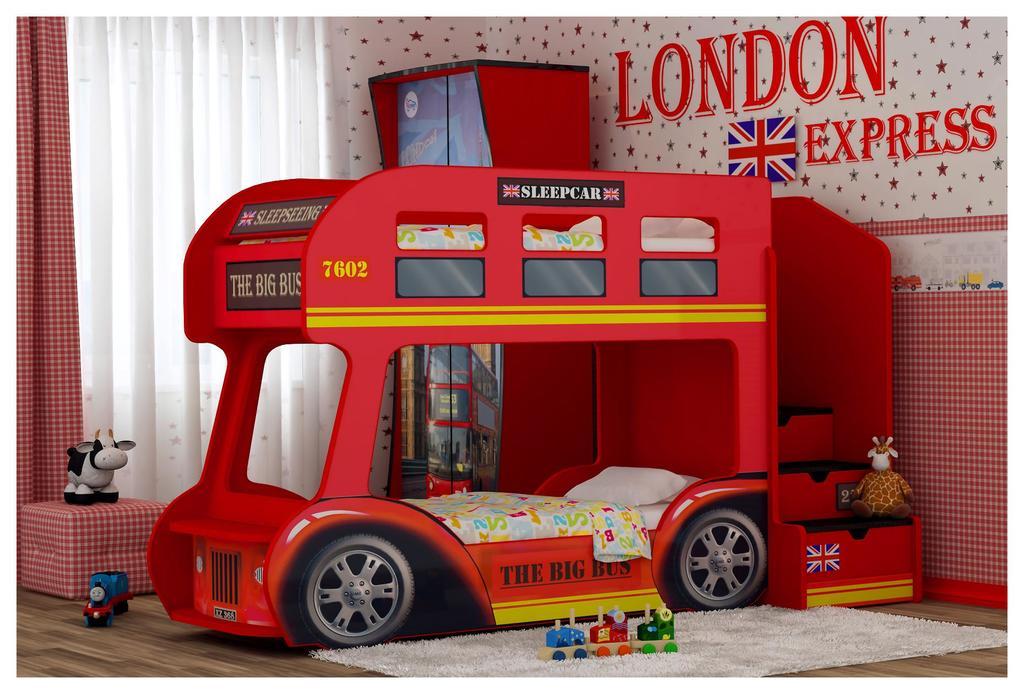 Двухъярусная кровать-автобус