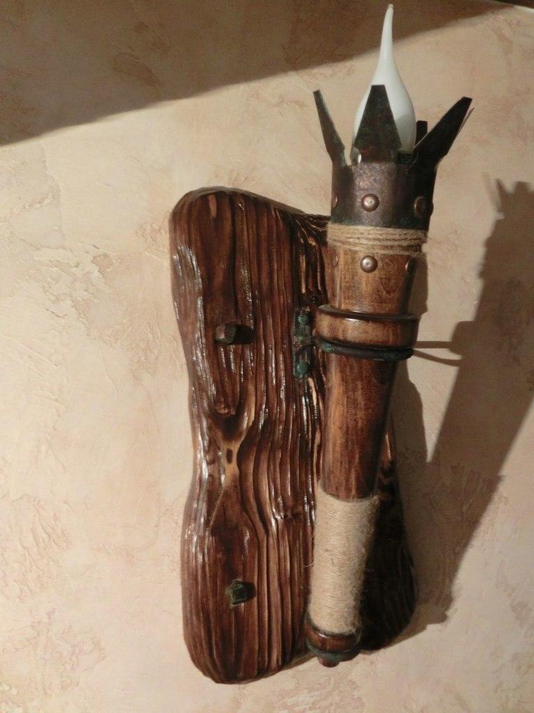 Факел из дерева