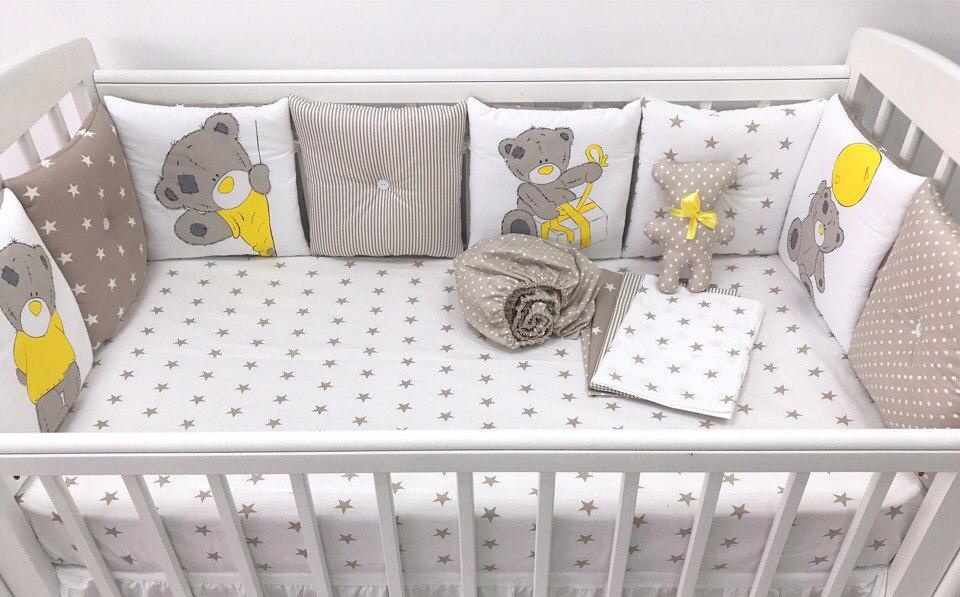 Бортик в кроватку для новорожденных своими руками фото
