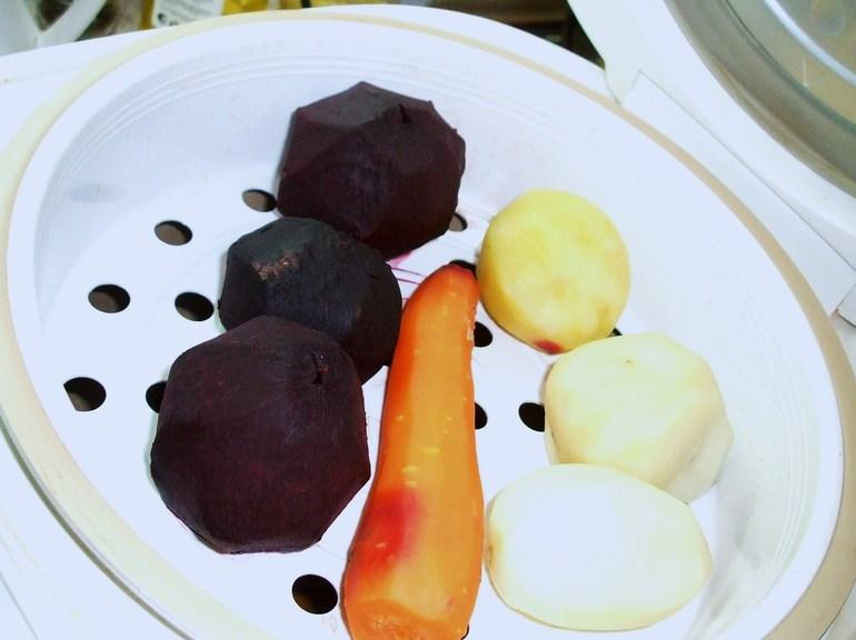 Овощи  для салатов в мультиварке.