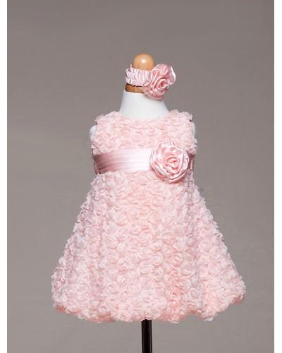 Розы из ткани для платьев
