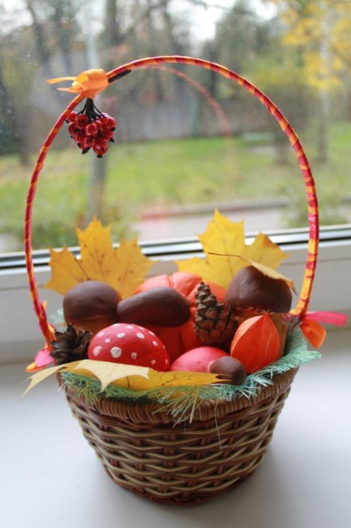 Поделка дары осени корзинка