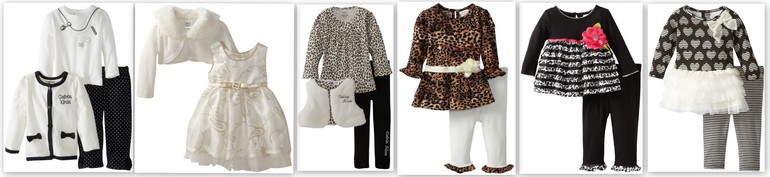 Красивые комплекты и платья для девочек от Calvin Klein, Nannette, YoungLand от 12 мес до 3х лет