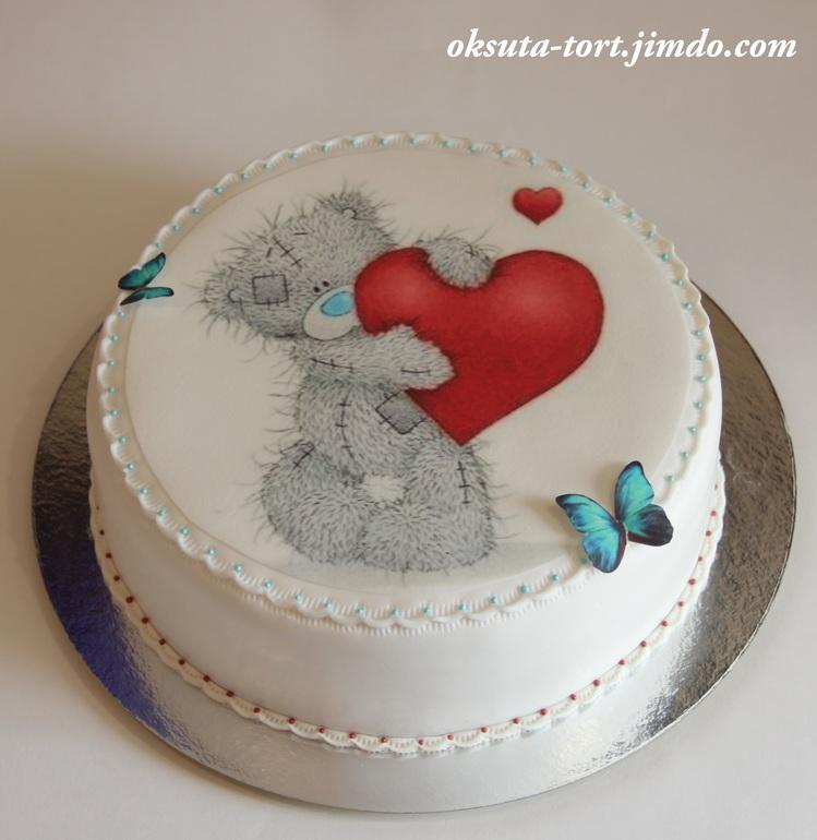 Торт-мишка тедди фото