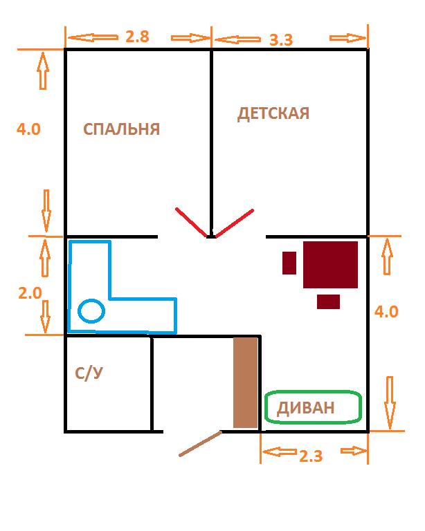 Перепланування однокімнатної квартири. Ідеї ремонту.