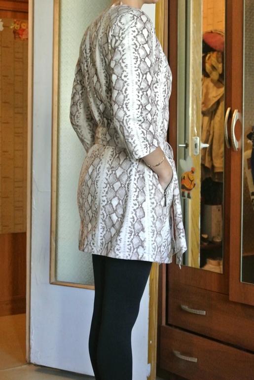Пальто кожаное женское 42 размер Franko di Marco