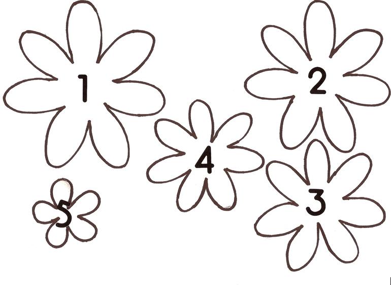Бумажные цветы схемы шаблоны