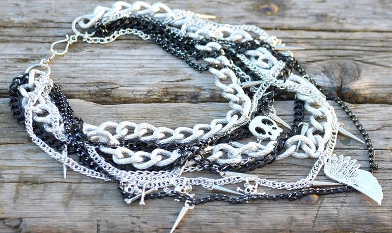 Шейных украшений своими руками из цепочки
