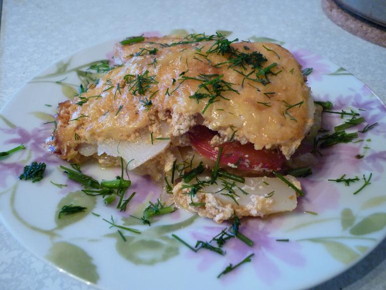 Рыба с сыром в духовке с помидорами и сыром рецепт в духовке