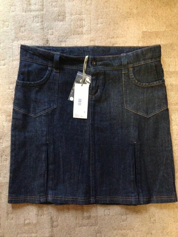 Новая джинсовая юбка Mothercare для беременных р.44-46