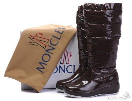 Продаю сапожки-дутики Moncler. Размер 35-36