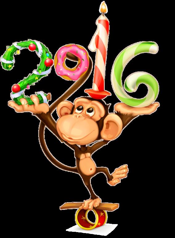 Картинки на новый 2017 год обезьяны