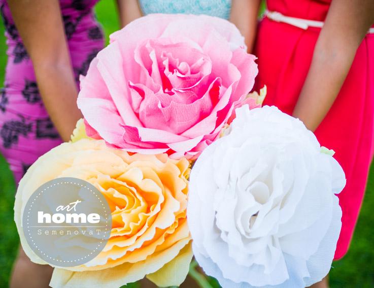 Бумажные розы для фотосесии