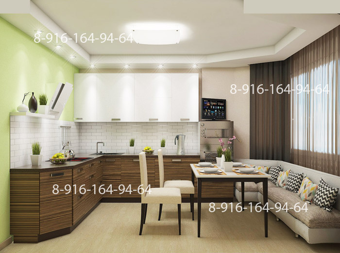 П44т дизайн кухни с эркером п44т интерьеров
