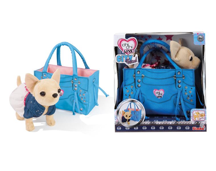 Собака чихуахуа в сумке игрушка