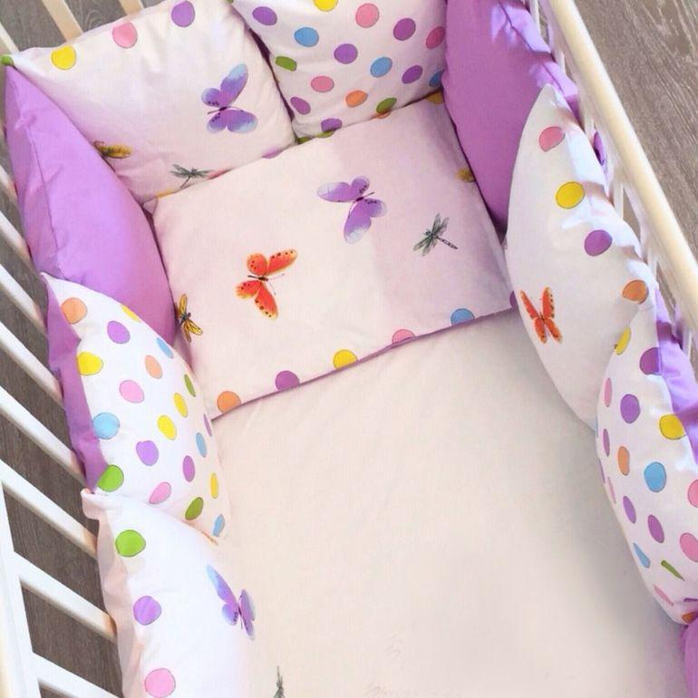 Подушки для бортиков в кроватку своими руками