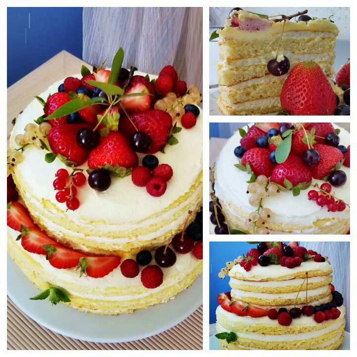 Торт из ягод и фруктов своими руками 159