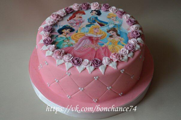 Торты с принцессами картинки