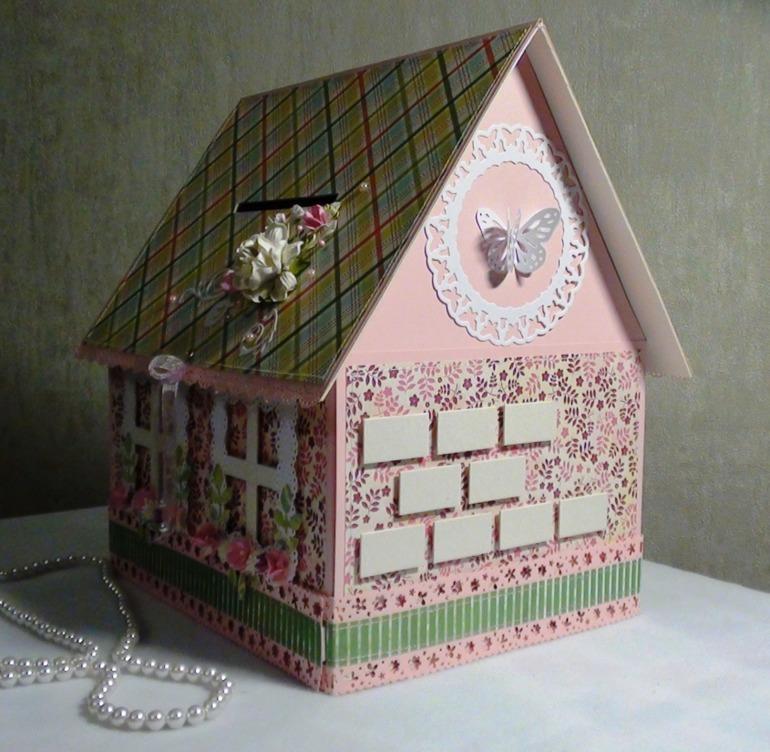 Коробка-домик для денег на свадьбу своими руками