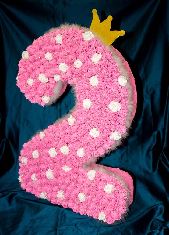 Цифра 10 из салфеток своими руками