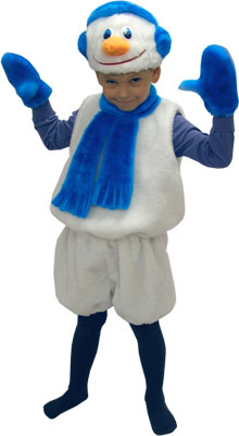 Новогодние костюм снеговика для мальчика своими руками
