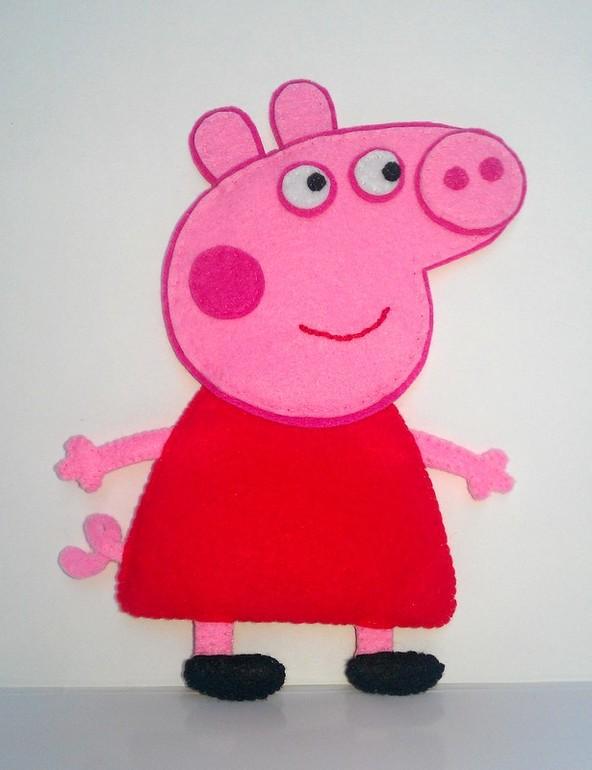 Свинка пеппа из фетра