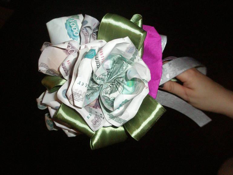 Фото торта из денег на свадьбу