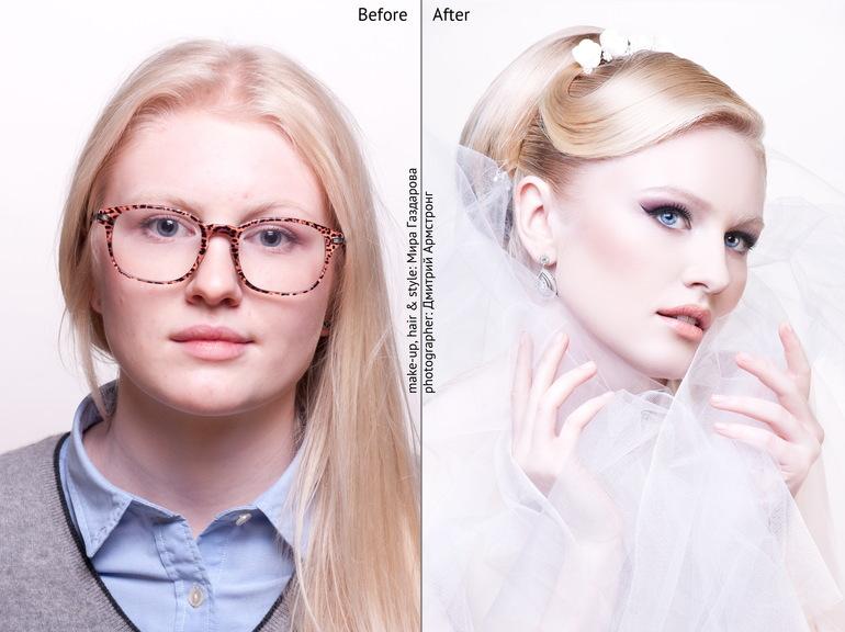 До и после)оцените девочки)))