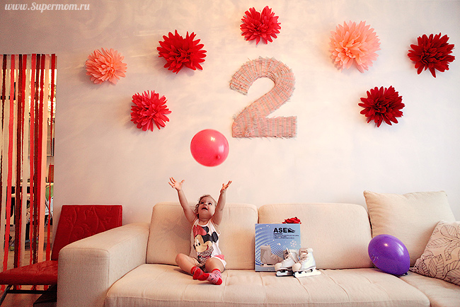 Оформление ко дню рождения дочки