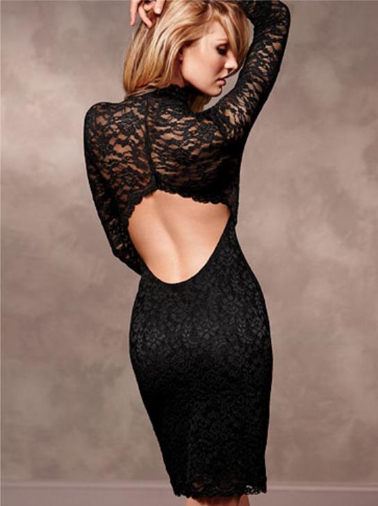 Продам гипюровое платье Victoria's Secret черного цвета.