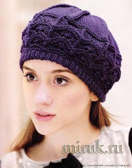Вязаная женская шапка и или