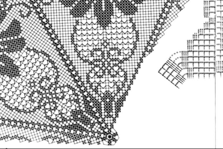 Круговое филейное вязание 29