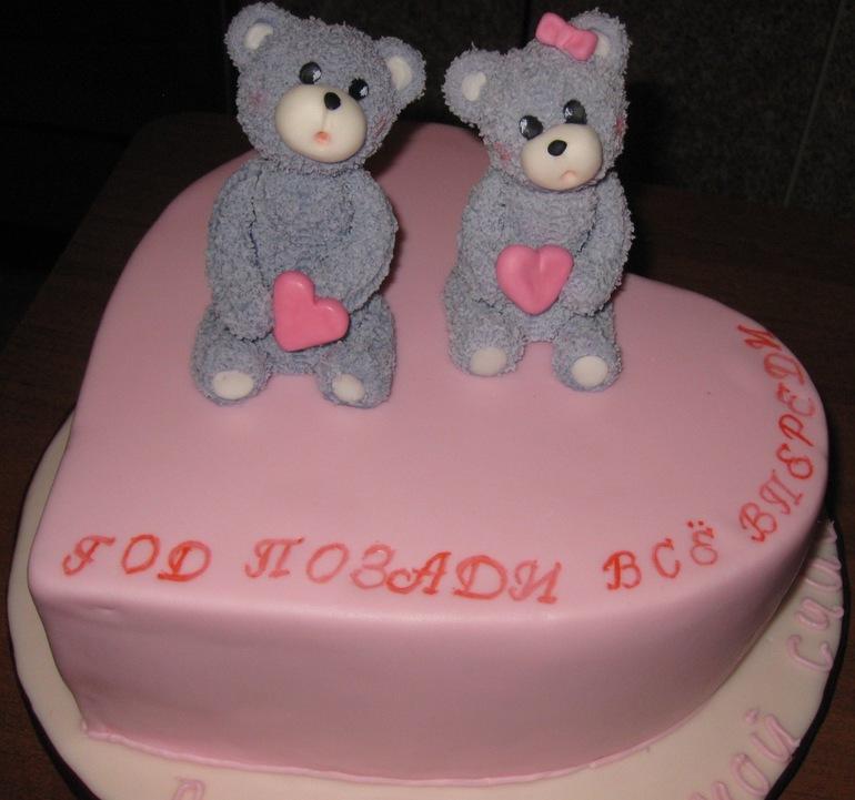 Торт на первую годовщину свадьбы