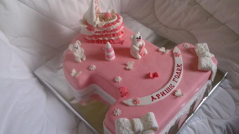 Торт на годик принцессе фото