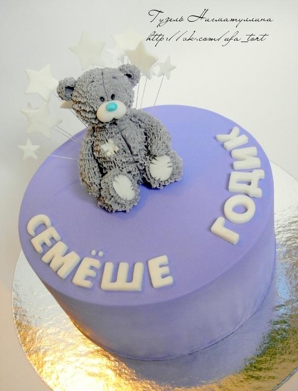 Торт с мишкой)