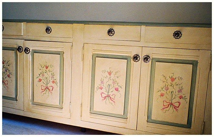 Роспись мебели в стиле прованс