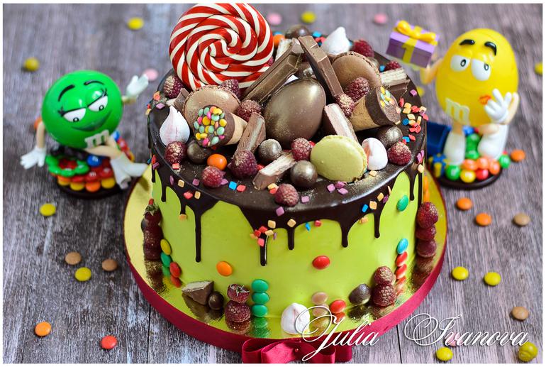 Торт со сладостями рецепт своими руками