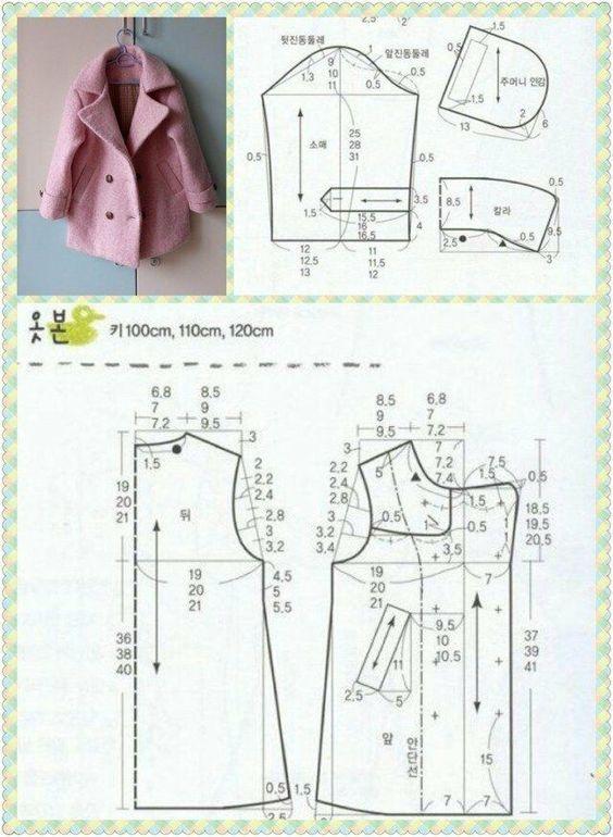 Выкройки модного детского пальто