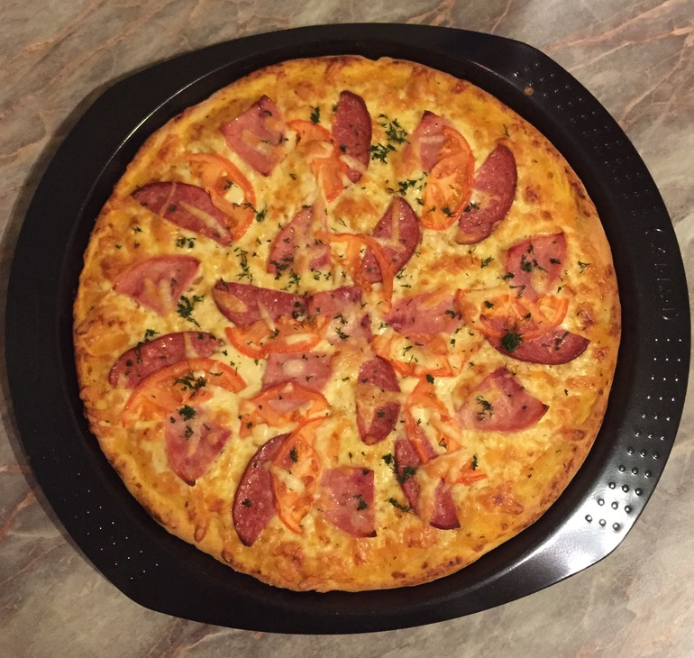 Из сухих дрожжей пицца рецепт с фото в домашних условиях