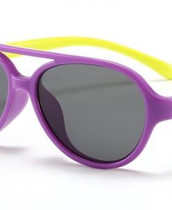 Очки детские гибкие поляризированные Фиолетово-Желтые