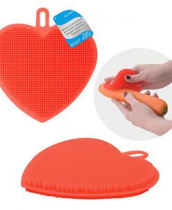 Щетка силиконовая для мытья посуды, овощей и фруктов