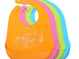 Детский силиконовый нагрудник/фартук