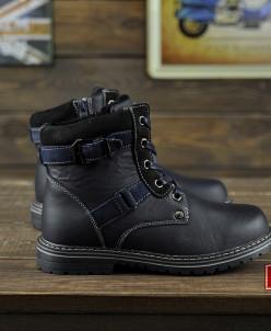Теплые детские ботиночки из натуральной кожи