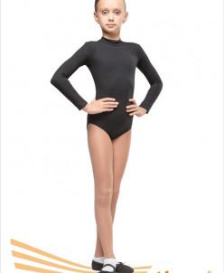 Купальник гимнастический воротник-стойка (хлопок),2цв,р26-44