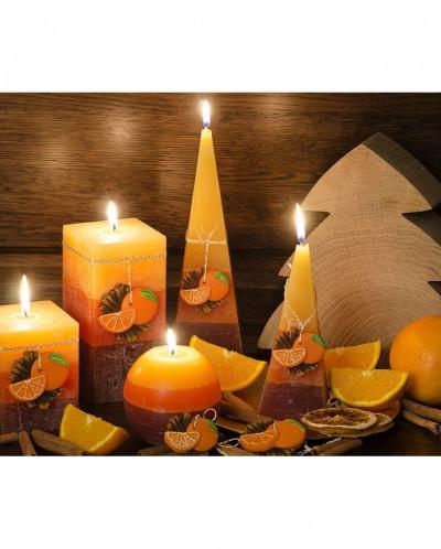 свеча Апельсин с корицей Шар 100мм