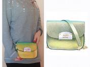 Новая кожаная сумка кроссбоди Италия хамелеон