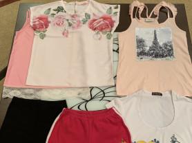 Блузка и футболка на р.140