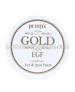 PETITFEE Gold EGF Патчи для обл. глаз (60 шт д/глаз и точ)